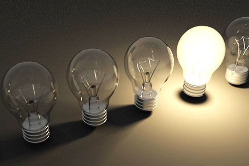image of 5 light bulbs with one turned on - freedom interventions - best drug rehabs - choosing the right experience