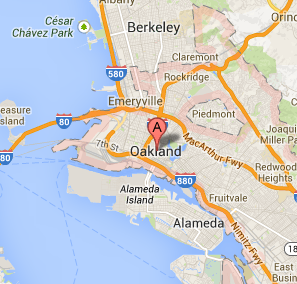 Image Gallery oakland california map