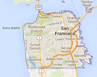 map of San Francisco California | San Francisco Intervention Services