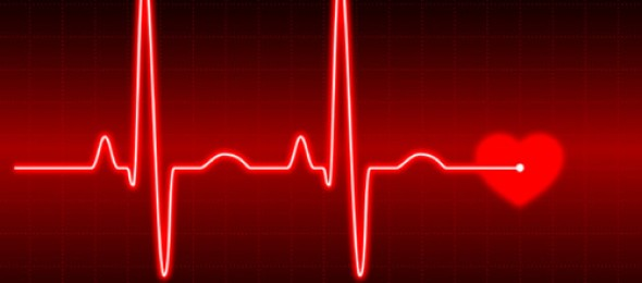 EKG of a heartbeat - treatment aftercare and monitoring