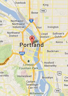 Map of Portland - Portland drug intervention
