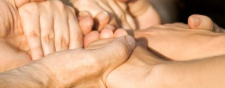 Hands together - family addiction support