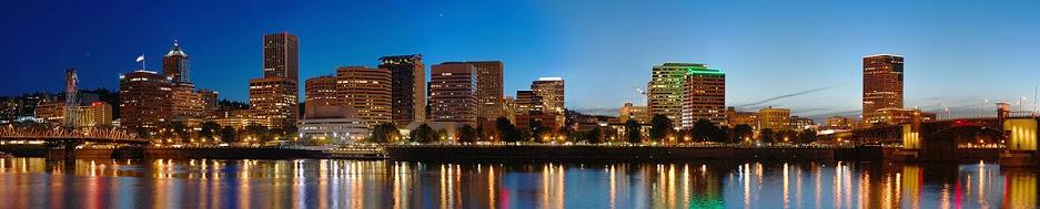Portland skyline at dusk - portland drug intervention