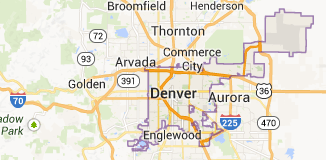 map of Denver Colorado | Denver Addiction Interventions