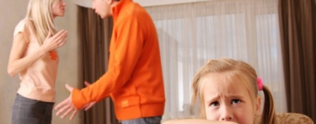 Parents argue while small child cries - addiction, recovery and the family